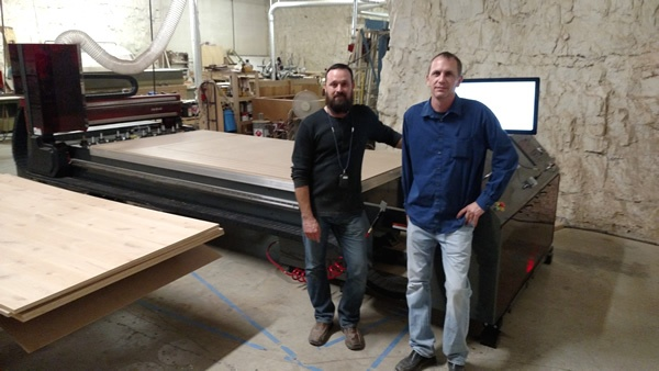 Donovan Mumma of Byrne Custom Woodworking and their new Thermwood Cut Center