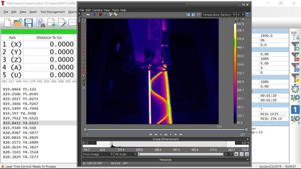 LSAM Print 3D software infared camera view.