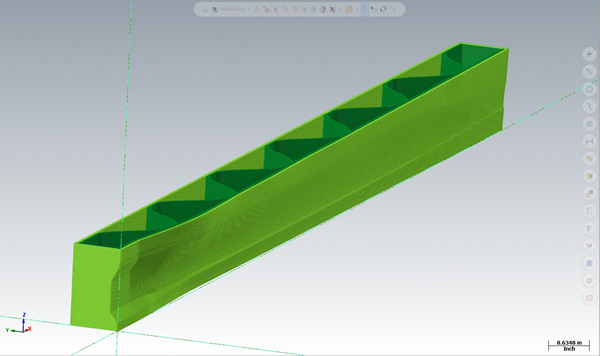 Internal support structure shown on LSAM Print 3D software.